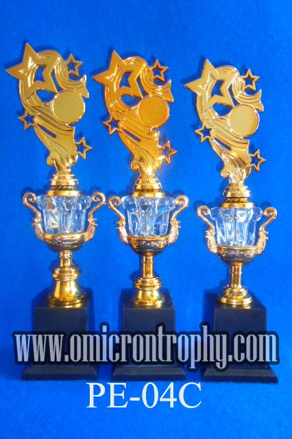jual piala kristal murah omicron trophy