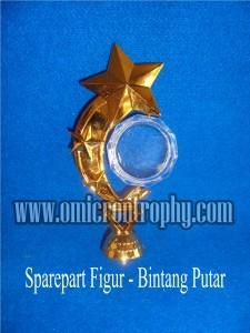 Sparepart Bahan Piala Trophy Plastik – Figur Bintang Putar