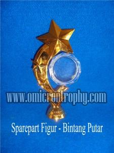 Sparepart Bahan Piala Trophy Plastik - Figur Bintang Putar
