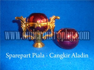 Jual Bahan Trophy Piala Plastik Murah - Cangkir Aladin