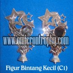 Distributor Jual Bahan Piala Trophy Plastik - Figur Bintang Kecil Silver C1