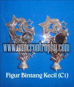 Distributor Jual Bahan Piala Trophy Plastik – Figur Bintang Kecil Silver C1