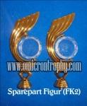 Sparepart Bahan Piala Trophy Plastik – Figur Kujang Putar Baru